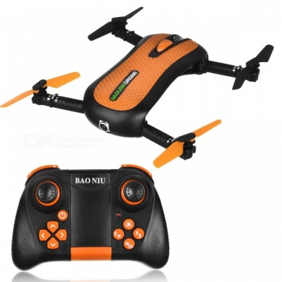 HC652W Portable High Definition 4-Axis 4CH 2.4G Wireless Folding RC Quadcopter with 0.3MP Camera - Orange