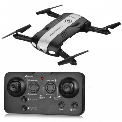 RQ77-24 Folding Four-Axis 4CH 2.4G Wireless RC Quadcopter with 0.3MP Camera (Fixed Height Return Version) - Silver