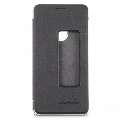 Ulefone PU Leather Protective Cover Case for Ulefone Tiger/Tiger Lite - Black