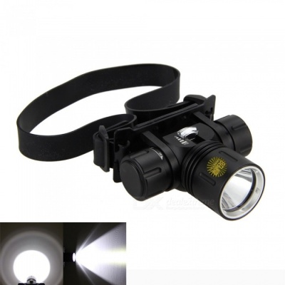 ZHAOYAO Portable Professional Underwater 2000Lm XM-L2 LED Diving Headlight - Black