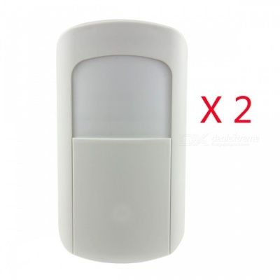 AG-security Smart 868MHz 1527 PIR Motion Detector with Low Consumption for Home Security Alarm System - White (2 PCS)
