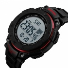 SKMEI 1238 Men's Sports Watch with Pedometer Timekeeping Function, Fashion Waterproof Alarm Digital Wristwatch - Red