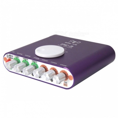 ZHAOYAO Portable Phone Broadcast Live Sound Card w/ Dynamic Microphone, External Electric Sound for YY Radio Host