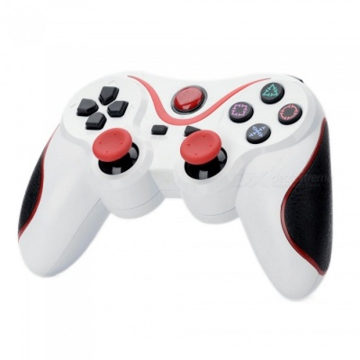 Kitbon Dualshock, Rechargeable Wireless Bluetooth Game Controller Gamepad for PS3 Sony Playstation 3 - White + Red