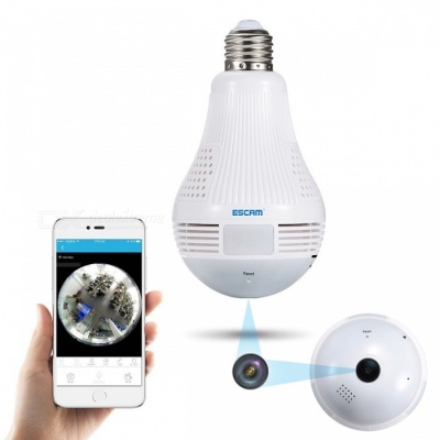 Escam QP136 HD 960P Wi-Fi 360 Degree Panoramic H.264 Infrared Indoor IP Camera w/ Motion Detection