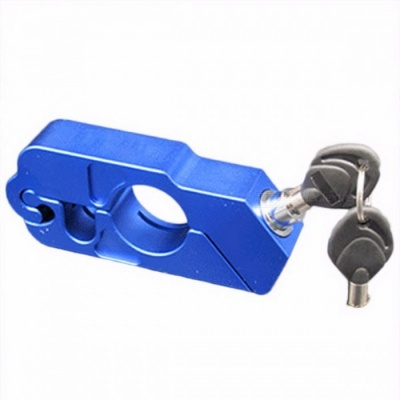 Aluminum Alloy Anti-Theft Lock Safety Security Lock Bicycle Handlebar Lock 5 Colors 450g Bike Accessories for MTB blue