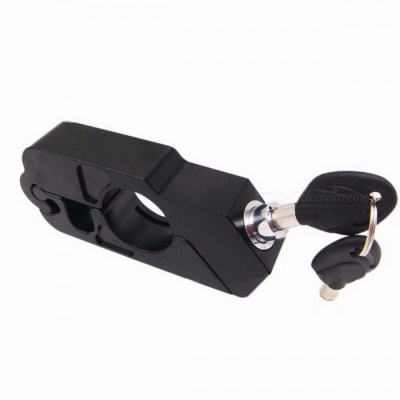 Aluminum Alloy Anti-Theft Lock Safety Security Lock Bicycle Handlebar Lock 5 Colors 450g Bike Accessories for MTB black