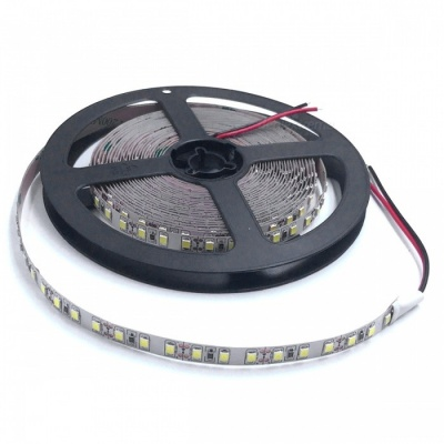 ZHAOYAO Non-Waterproof 5m 70W DC 12V 2835SMD-600LEDs LED Strip Light - Cold White (8mm)