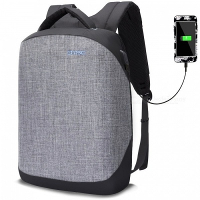 DTBG 15.6 Inch Anti-Theft Business Laptop Backpack with USB Charging Port - Grey
