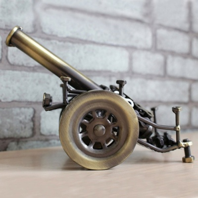 Premium Metal Iron Cannon Model Creative Gift, Office Desktop Ornament, Birthday Gift