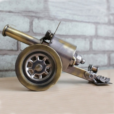 Metal Iron Cylinder Cannon Model Creative Office Desktop Ornament, Birthday Gift