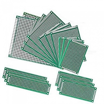 ZHAOYAO Double-Side Prototype PCB Circuit Boards for Arduino - Green (17 PCS)