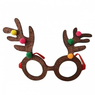 P-TOP Christmas Lensless Decorative Glasses for Children Kids, Christmas Party Spectacle Frames Glasses Props