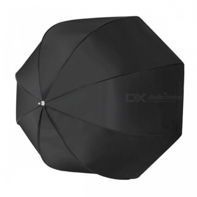 80cm Octagonal Type Reflective Umbrella / Softbox for Photography Flash Lamp - Black + Silver