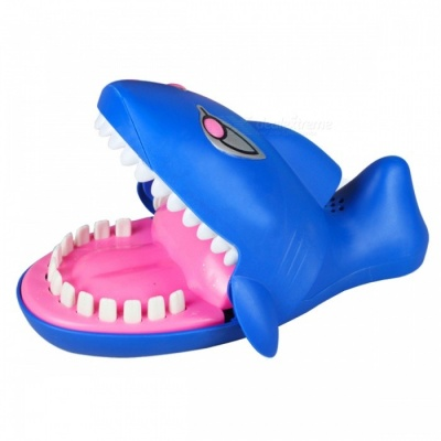 Funny Lighted Glowing Finger Biting Sharks Smart Toy with Sound for Kids - Blue + Multicolor