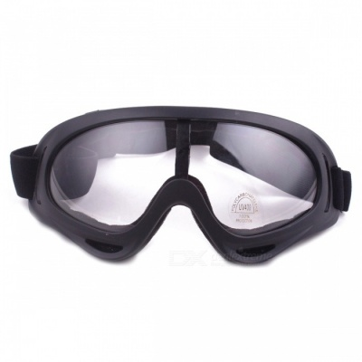 P-TOP Windbreak Sand Fans Tactical Ski Glasses Goggles for Motorcycle ATV Dirt Bike - Transparent