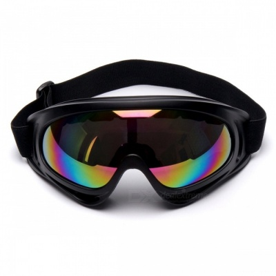 P-TOP Windbreak Sand Fans Tactical Ski Glasses Goggles for Motorcycle ATV Dirt Bike - Colorized