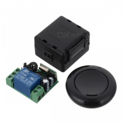 433MHZ Mini Portable Remote Controller w/ Switch Module for Garage Door Opener, Window, Lifting Device, Water Pump - Black