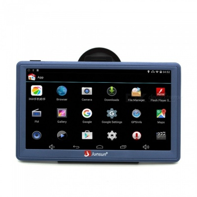 "Junsun 7"" Android Wireless Car GPS Navigator with 16GB Memory"