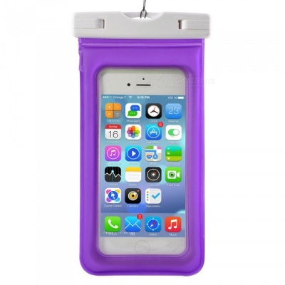 Waterproof PVC ABS Bag Pouch with Arm Band for IPHONE X / IPHONE 6 PLUS / 6S PLUS / 7 PLUS / 8 PLUS - Purple