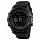 SKMEI 1321 Men's Bluetooth Smart Watch, Waterproof Digital Wristwatch with Pedometer, Remote Camera, Calorie Counter - Black
