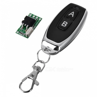 DC 7-36V 433MHZ Mini DC Lithium Battery Powered Remote Control Switch w/ Keychain for LED Lamp