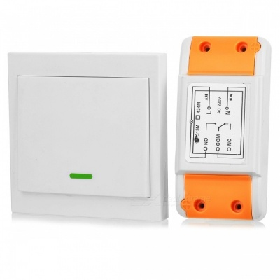 LZ-86-220V 315MHz Learning Code Single Switch +86 Single Button Free Sticker Remote Control Light Switch