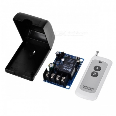 LZ-91.433MHZ12V-48V Single High-Power Remote Switch + Ultra-Thin Two-Button Remote Control