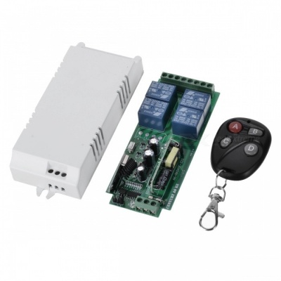 KJ-92-315MHZ 220V Four-Way Switching Power Supply Wireless Remote Control Switch + Four Button Remote Control