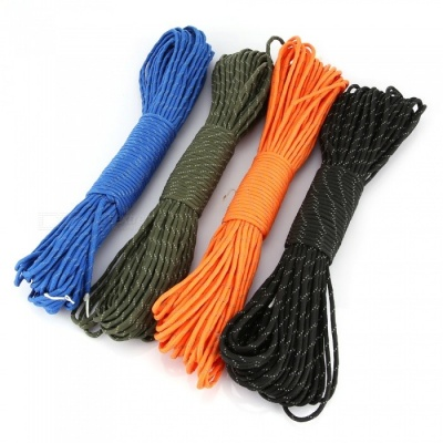CTSmart 30m Outdoor Multi-Purpose Durable Reflective Rope - Random Color (4 PCS)