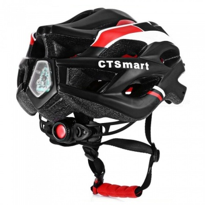 CTSmart Outdoor Riding One-Piece Lightweight Ventilation Band Safety Helmet w/ Rescue Light - Black