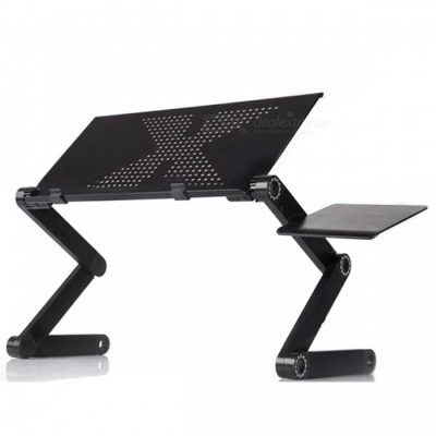 P-TOP 42cm Multi-Functional Ergonomic Computer Laptop Table Stand in Bed / Sofa Use - Without Fan