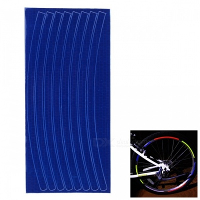 Bicycle Decorative Cool Reflective Stickers Bike Wheel Sticker for 26 Inches Mountain Bike - Blue