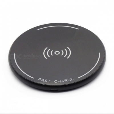 ST10 12W High Speed Qi Wireless Charger for Mobile Phone - Black