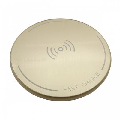 ST10 12W High Speed Qi Wireless Charger for Mobile Phone - Golden