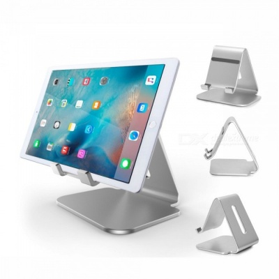 Premium Durable Aluminum Alloy Desktop Charging Base Stand Bracket for Tablet PC - Silver