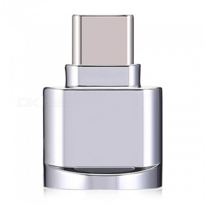USB 3.1 Type-C to Micro SD TF Card Reader, OTG Adapter for Mobile Phone, Macbook - Silver