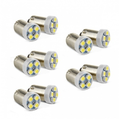 Qook BK792 BA9S White 4-LED 0.2W Car Reverse Backup Turn Light Bulb Lamp (10 PCS)