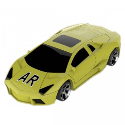 Portable AR Racing Car Game Toy for Smartphones - Yellow