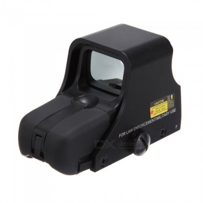 OUMILY Red and Green Dot Sight Airsoft Reflex Sight, Supports 20mm Rail Mount - Black