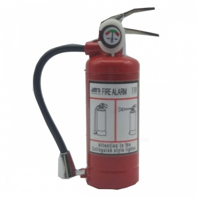Creative Fire Extinguisher Shape Gas Inflatable Lighter Igniter
