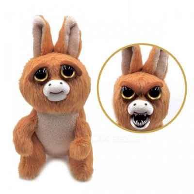 Super Cute Face-Changing Plush Doll Little Kangaroo for Kids