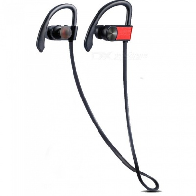 ZHAOYAO Wireless Bluetooth CSR4.1 Stereo Earhook Style Sports Earphone for Running Fitness Exercise - Red
