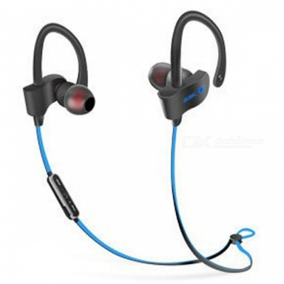Sports Stylish Earhook Style Bluetooth V4.1 Earphones Headset Stereo Headphones for Running - Blue + Black