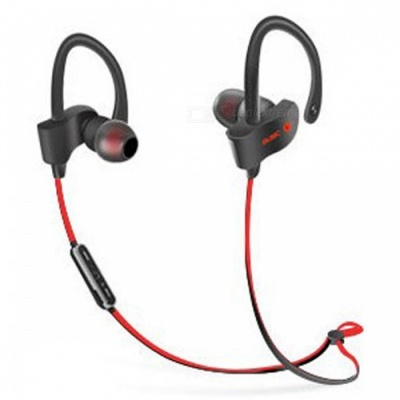 Sports Stylish Earhook Style Bluetooth V4.1 Earphones Headset Stereo Headphones for Running - Red + Black