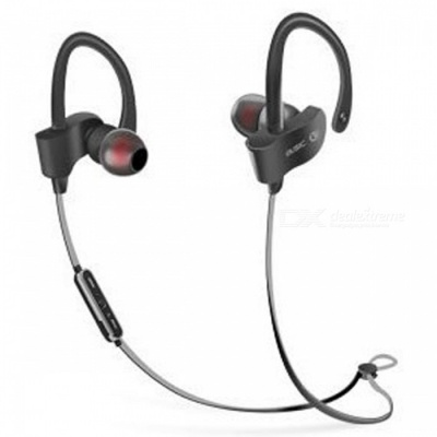 Sports Stylish Earhook Style Bluetooth V4.1 Earphones Headset Stereo Headphones for Running - Black