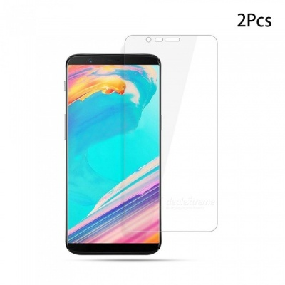 Naxtop Tempered Glass Screen Protector for Oneplus 5T - Transparent (2 PCS)