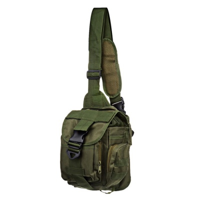 Military Waterproof Non-Fading Canvas Shoulder Bag - Army Green
