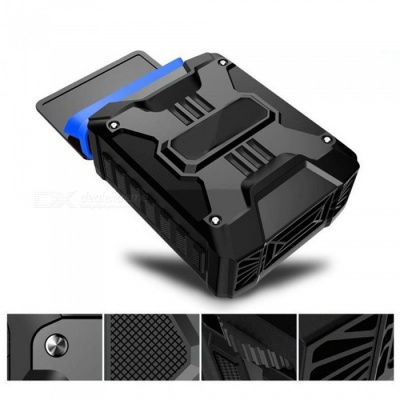 Portable USB Mini Air Extracting Exhaust Cooling Fan CPU Cooler Cooling Hardware for Laptop - Black