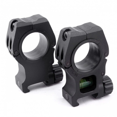 ACCU Aluminum Alloy Tactical 20mm Gun Scope Mount with Spirit Level for 25/30mm Barrels